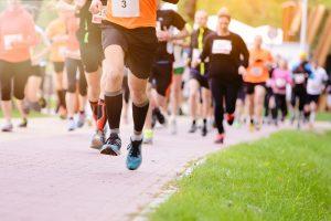 Summer running race in the park