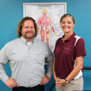 PT dry needling trained professionals, Josh Lander and Jenny Miller