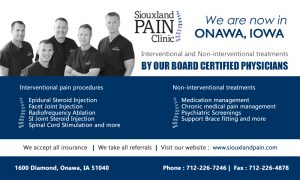 pain clinic promotional flyer