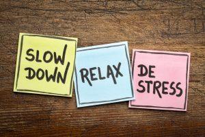 Slow down, relax, de stress concept