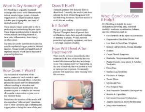Dry needling brochure
