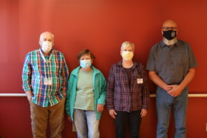 Four new hospice volunteers pic